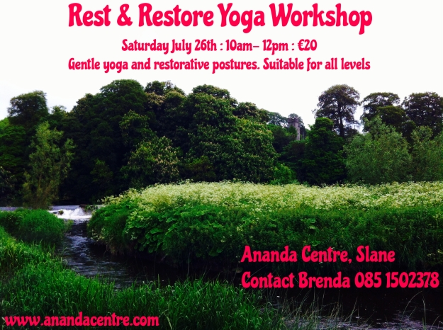 Rest and Restore Workshop, Ananda Centre