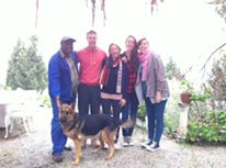 The Team -Ernest, Corne, Lissa, me, Vicki and of course the wonderful Lulu the dog. Missing is Claire.